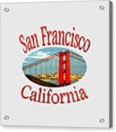 San Francisco California Design Acrylic Print