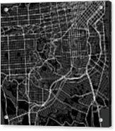 San Francisco California Usa Dark Map Acrylic Print