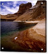 Sandstone Shoreline And Cliffs Lake Powell Acrylic Print