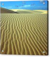 Sandy Desert Acrylic Print by MotHaiBaPhoto Prints