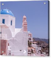Santorini Oia Blue Domed Church Acrylic Print