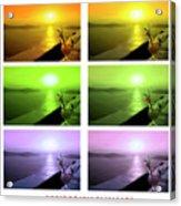 Santorini Sunsets Acrylic Print