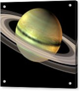 Saturn And Its Rings Acrylic Print