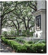 Historic Wright Square - Downtown Savannah Georgia Acrylic Print