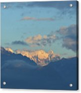 Scenic Ladscape Of Northern Italy Of The Snow Capped Alps  Acrylic Print