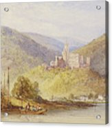 Schloss Stolzenfels From The Banks Of The Lahn Acrylic Print