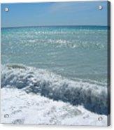 Sea Waves In Italy Acrylic Print