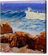 Seascape Rocks Acrylic Print