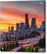 Seattle On Firer Acrylic Print