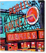 Seattle Public Market Acrylic Print