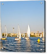 Seattle Sailboat Race Acrylic Print