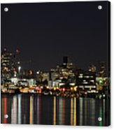 Seattle Skyline Acrylic Print by Michael Gass