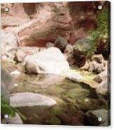 Sedona River Rock Acrylic Print