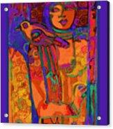 Self Portrait Red Bird Acrylic Print