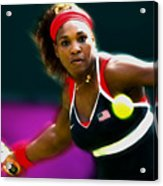 Serena Williams Eye On The Prize Acrylic Print
