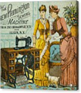 Sewing Machine Ad, C1880 Acrylic Print by Granger