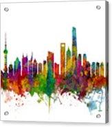 Shanghai China Skyline Acrylic Print