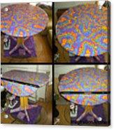 Sharpie Star Table Acrylic Print by Mandy Shupp