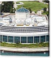 Shedd Aquarium In Chicago Aerial Photo Acrylic Print