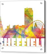 Sheffield England Skyline Acrylic Print