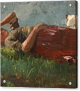 Shepherd Girl Resting Acrylic Print