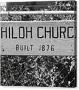 Shiloh Church Sign Birds Landing Ca Acrylic Print