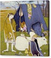 Shiva And His Family Acrylic Print