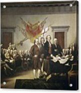 Signing The Declaration Of Independence Acrylic Print