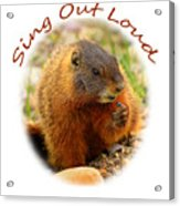 Sing Out Loud Acrylic Print