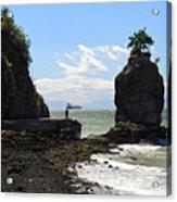 Siwash Rock Stanley Park Vancouver Acrylic Print
