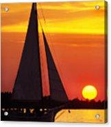 Skipjack At Sunset Acrylic Print