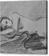 Sleeping Nude Acrylic Print