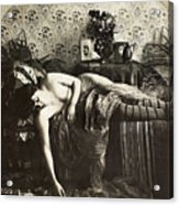 Sleeping Woman, C1900 Acrylic Print