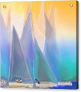 Smooth Sailing Acrylic Print by Mathilde Vhargon