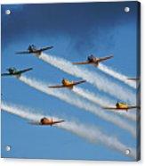 Snj  T-6 Texan And Canadian Harvard Aerobatic Team Acrylic Print