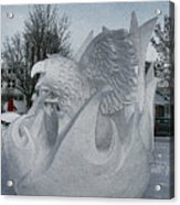 Snow Sculpture Acrylic Print