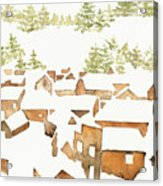 Snow Town Acrylic Print