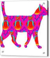 Snowman Cat Acrylic Print