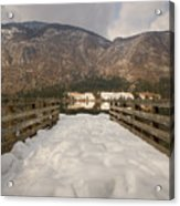 Snowy Alpine Lake Acrylic Print