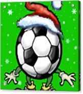 Soccer Christmas Acrylic Print