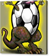Soccer Saurus Rex Acrylic Print
