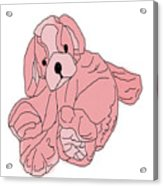 Soft Puppy Pink Acrylic Print