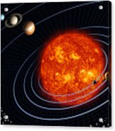 Solar System Acrylic Print by Stocktrek Images