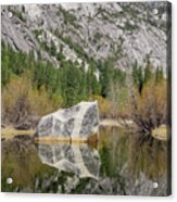 Some Beautiful Scene Of The Famous Mirror Lake Of Yosemite Acrylic Print
