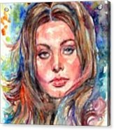 Sophia Loren Painting Acrylic Print