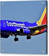 Southwest Airlines Airplane In Flight Acrylic Print