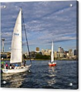 Space Needle Sail By Acrylic Print