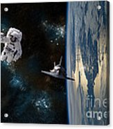 Space Rescue Acrylic Print