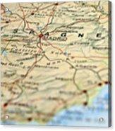 Spain Map Acrylic Print