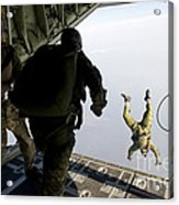 Special Operations Jumpers Exit A C-130 Acrylic Print